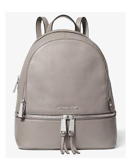 68b466b805 Michael Kors Rhea Medium Leather Backpack Pearl Grey