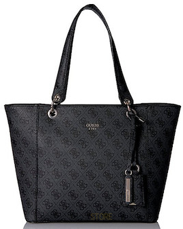 GUESS Kabelka Kamryn Extra Large Tote Coal 4580e12ce32