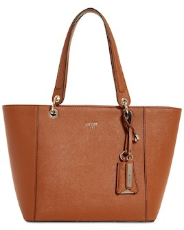348ac26bc GUESS Kamryn Extra Large Tote Cognac