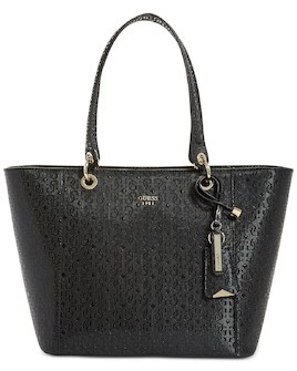 493f6420c4 GUESS Kamryn G-Shine Tote Black Gold